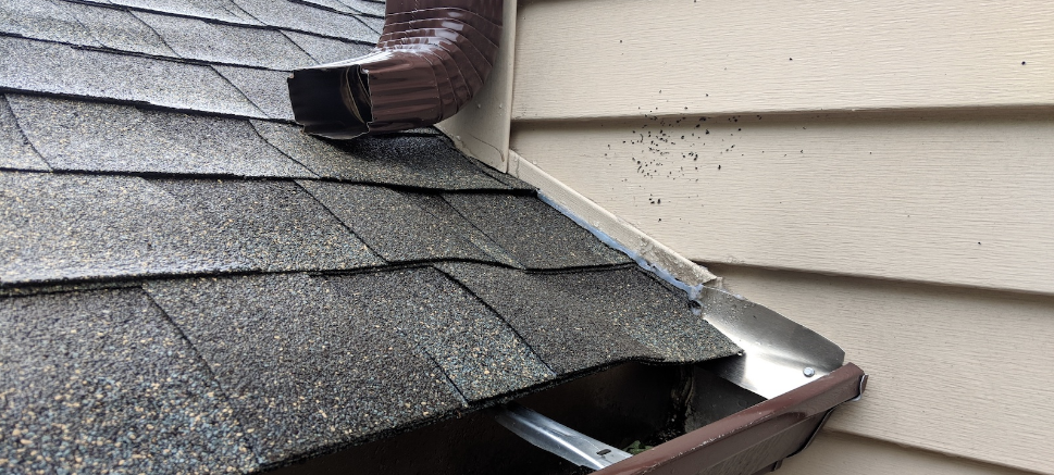home roof with damage